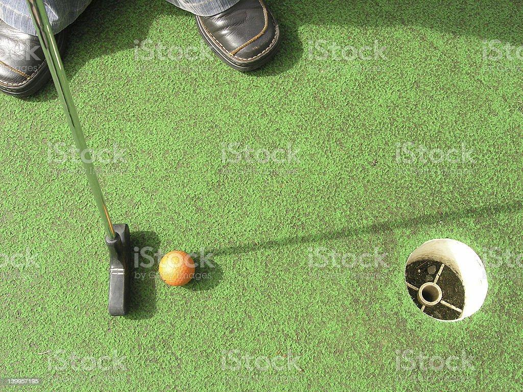 Fun golf royalty-free stock photo