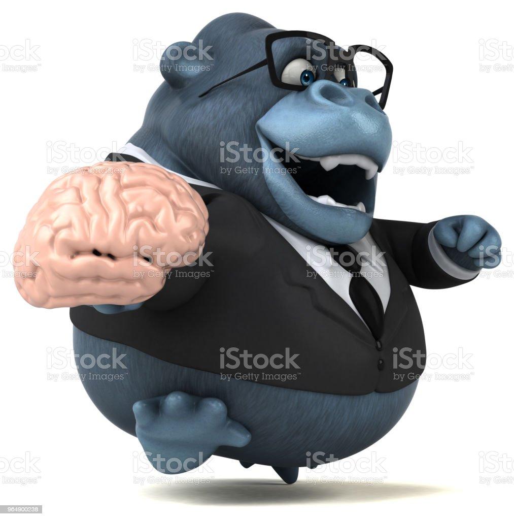 有趣的大猩猩-3D 圖 - 免版稅企業圖庫照片