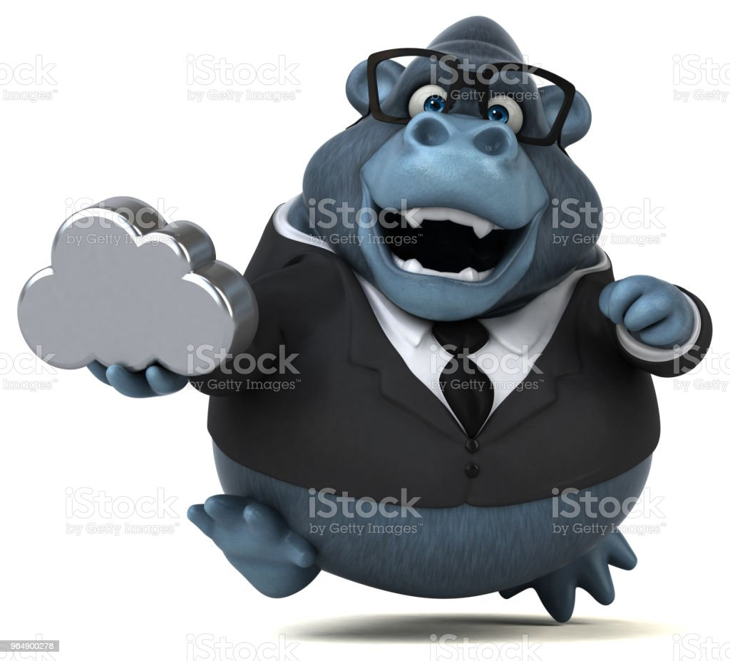Fun gorilla - 3D Illustration royalty-free stock photo