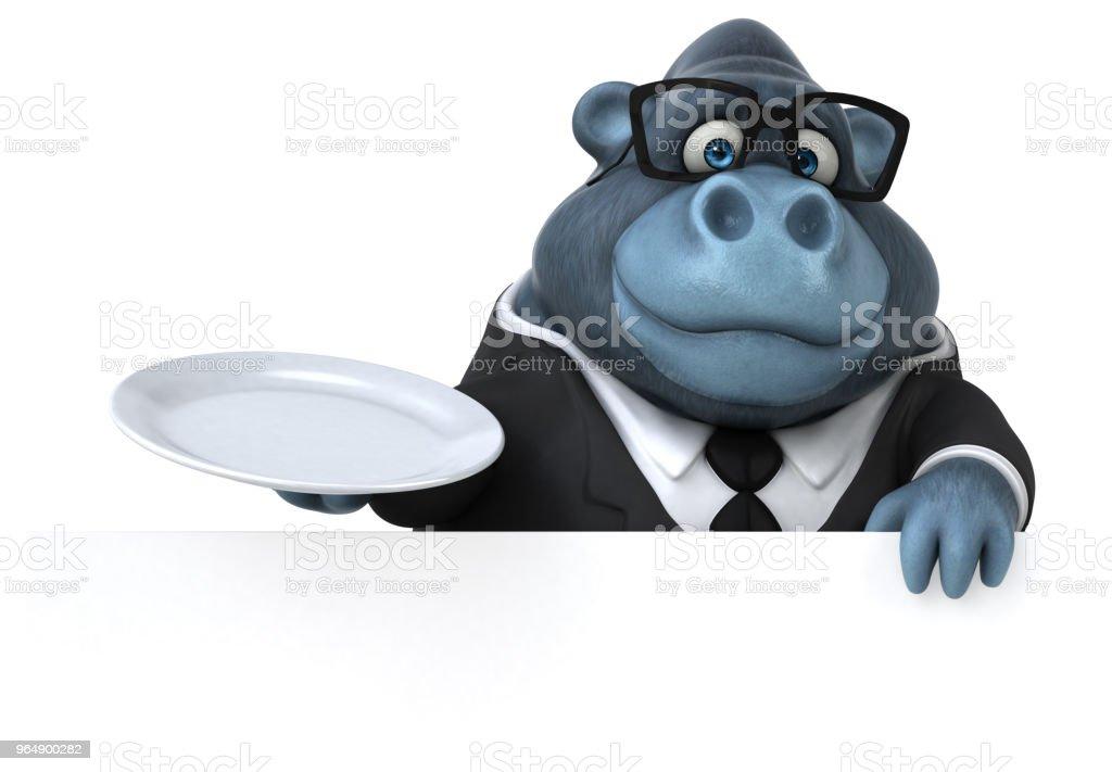 Fun gorilla - 3D Illustration royalty-free stock photo
