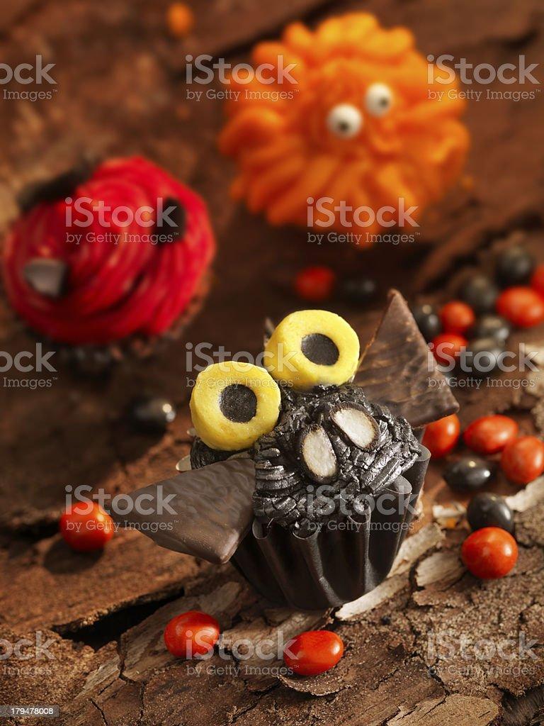 Fun Halloween Cupcakes royalty-free stock photo