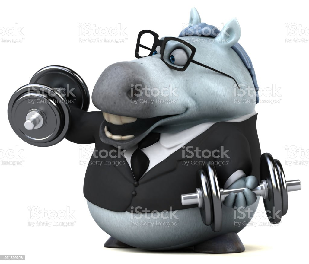 Fun horse - 3D Illustration royalty-free stock photo
