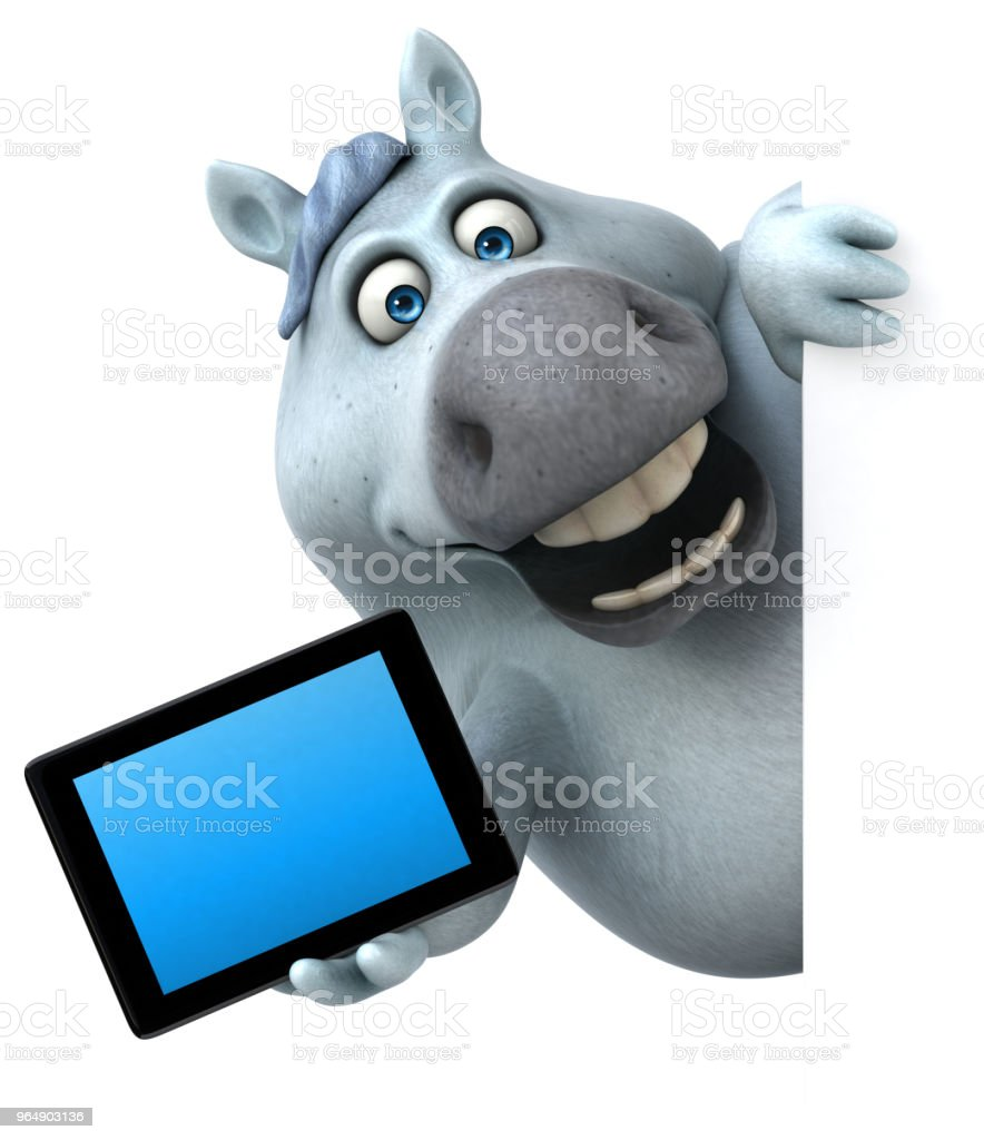 Fun horse - 3D Illustration royalty-free stock photo