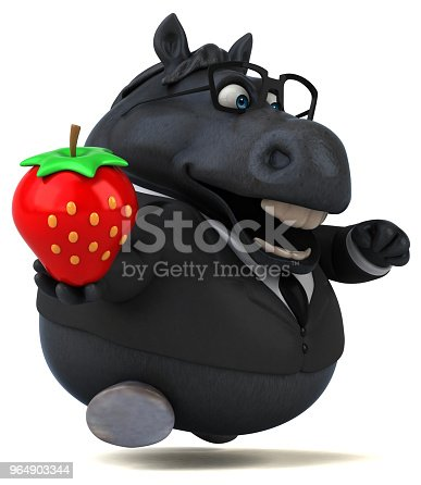 Fun Horse 3d Illustration Stock Photo & More Pictures of Animal