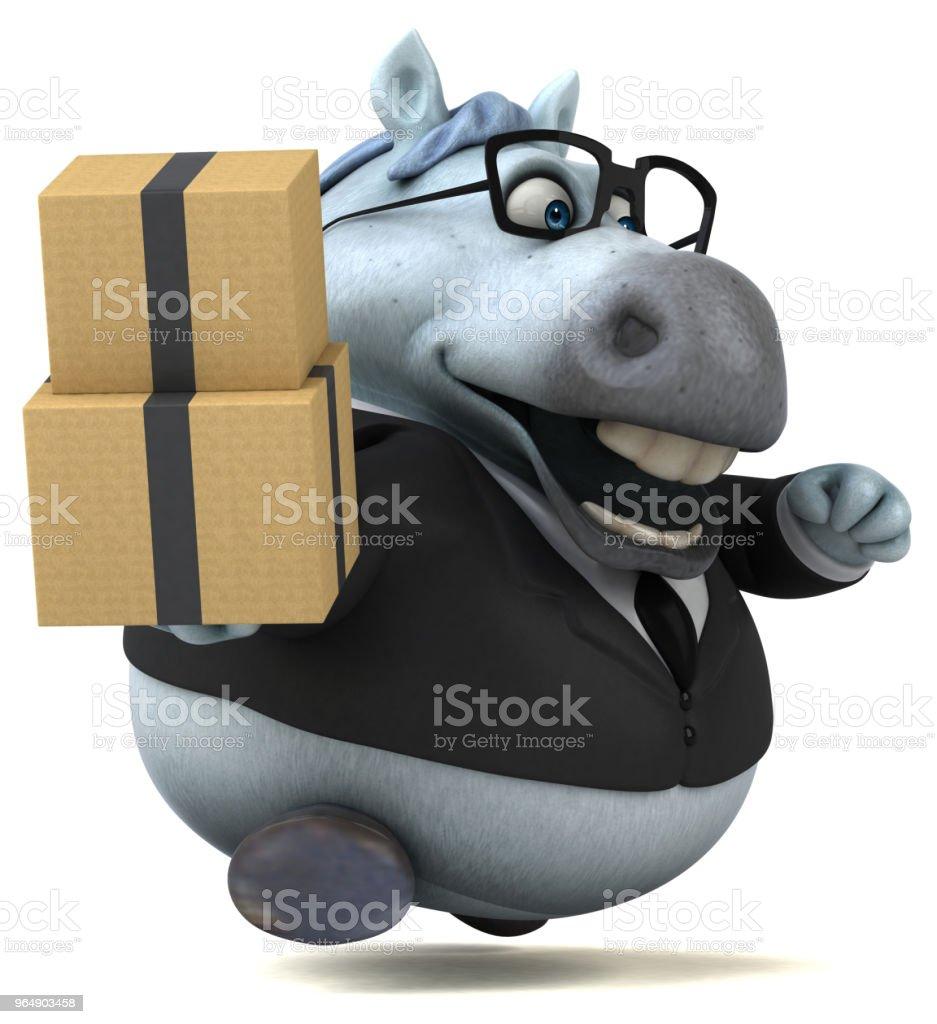 趣味馬-3D 插畫 - 免版稅動物圖庫照片