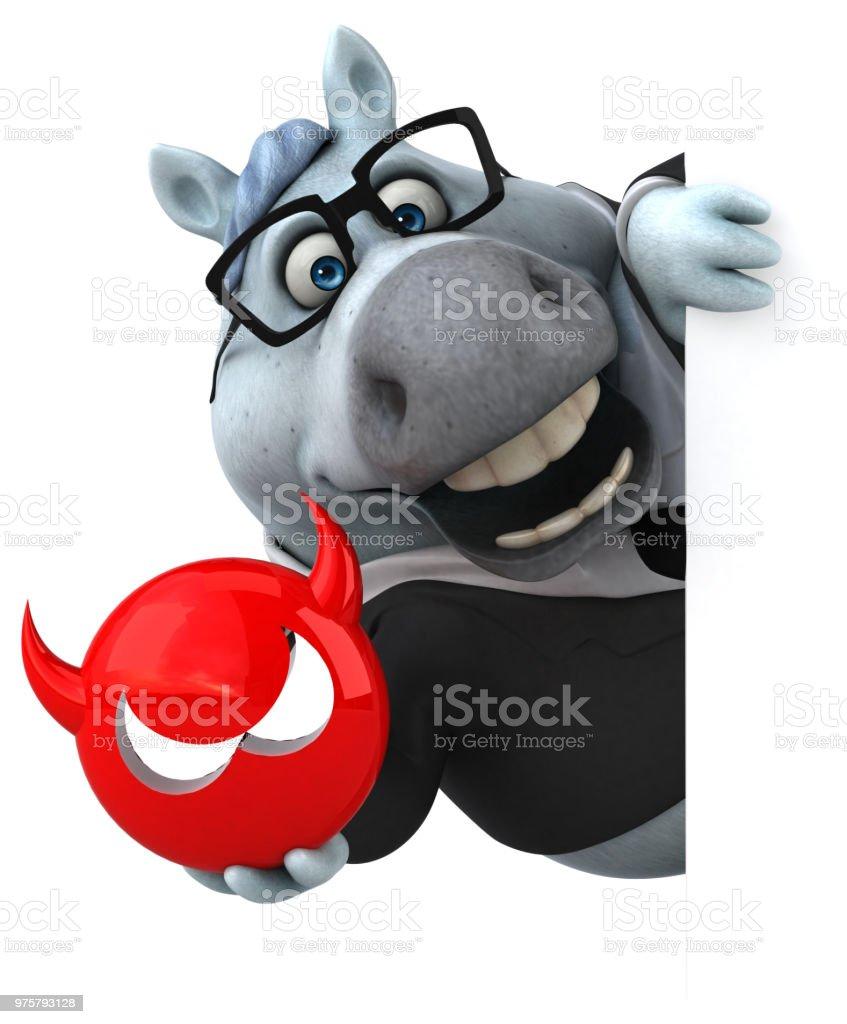 Spaß Pferd - 3D Illustration - Lizenzfrei Antiviren-Software Stock-Foto