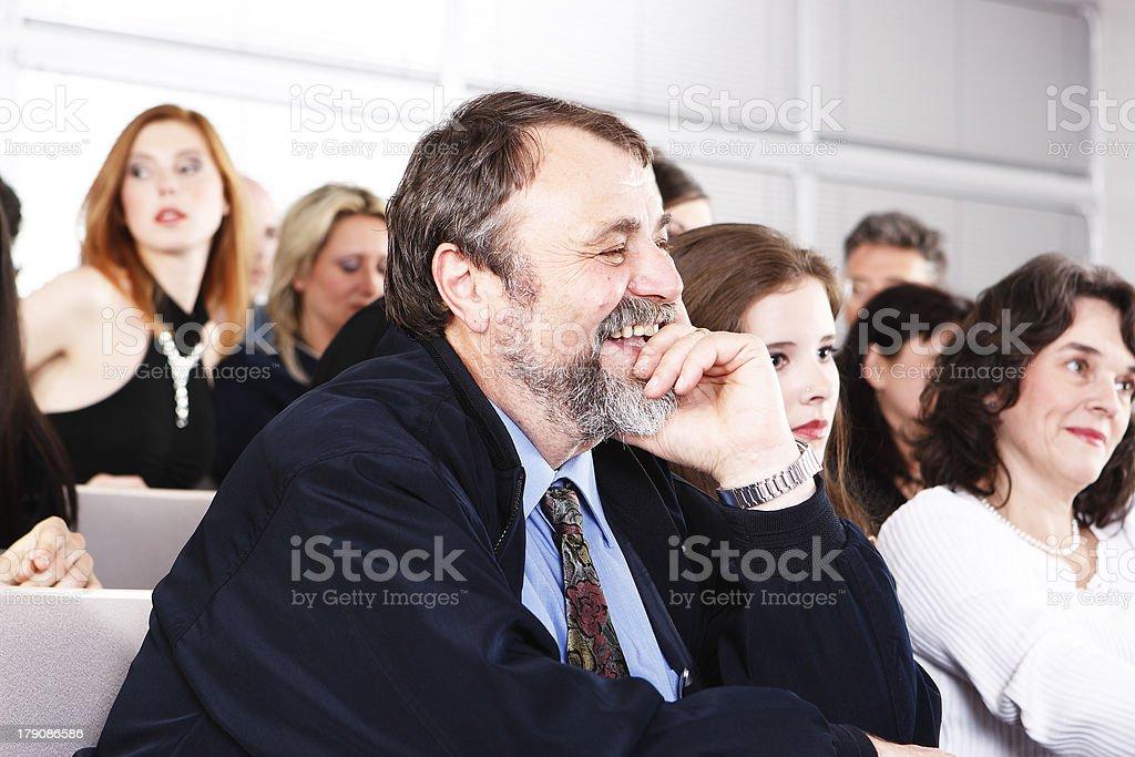 Fun in the audience stock photo