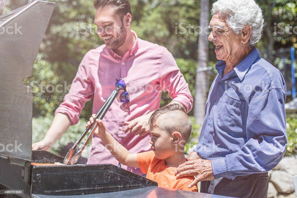 Fun in the barbecue stock photo