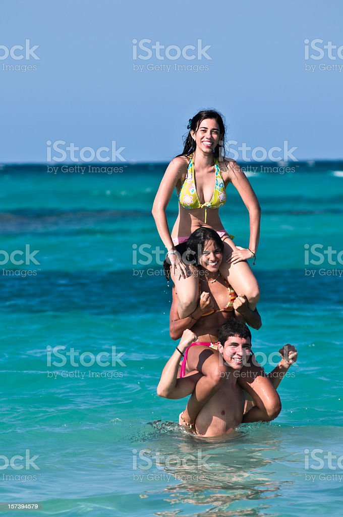 Fun in the Beach royalty-free stock photo