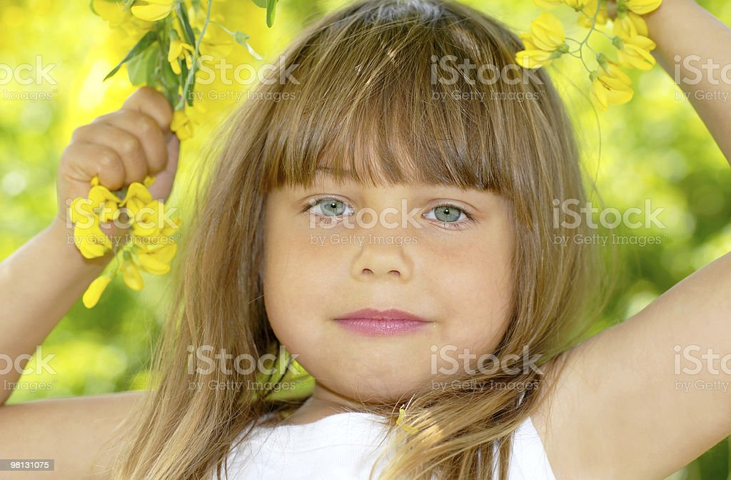Fun in the garden royalty-free stock photo