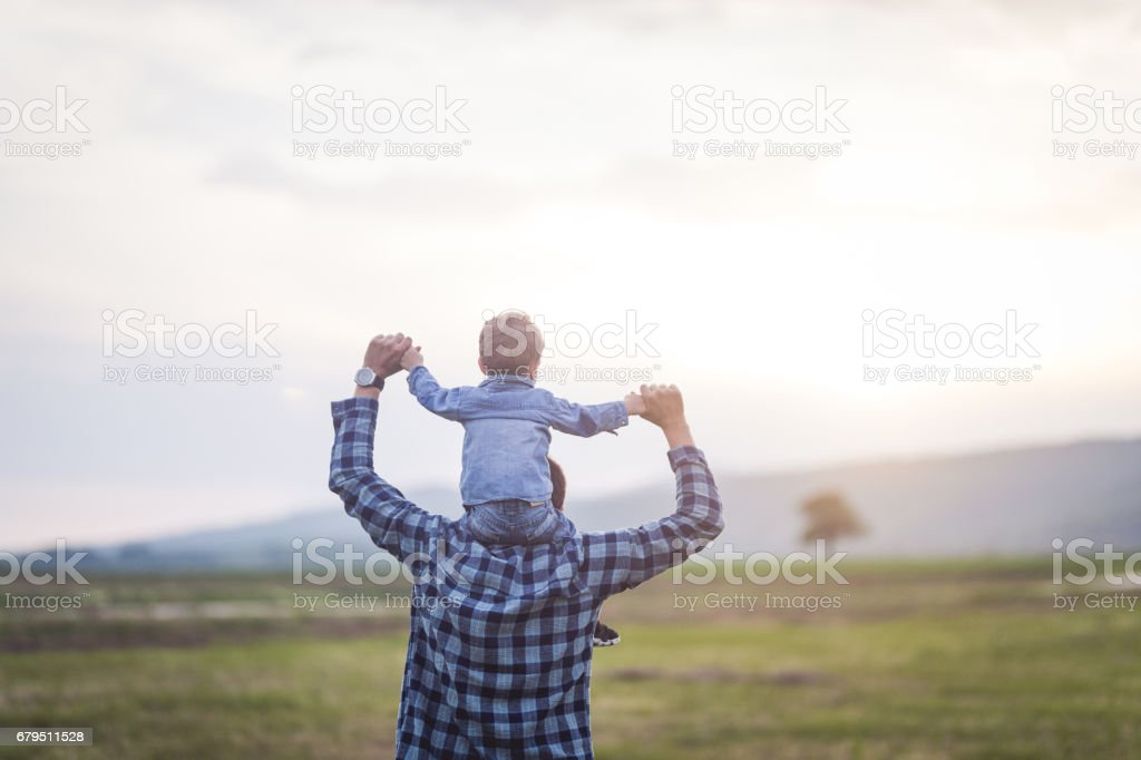 Fun in the grass field royalty-free stock photo