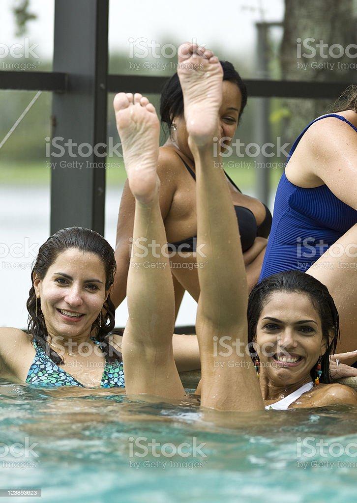 Fun in the pool royalty-free stock photo