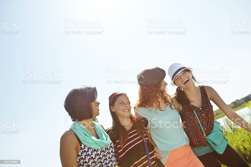 Fun in the summer sun! stock photo