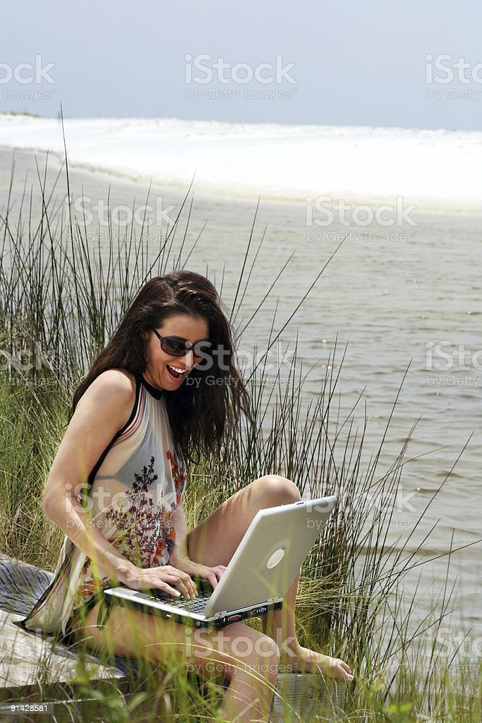 Fun in the sun at work and play royalty-free stock photo