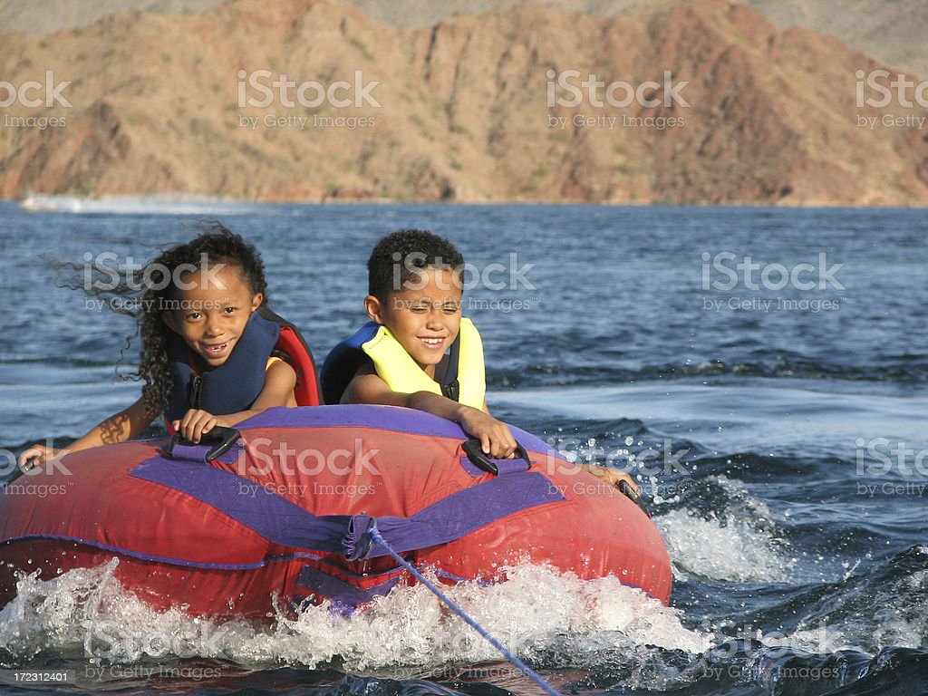 Fun in the water royalty-free stock photo