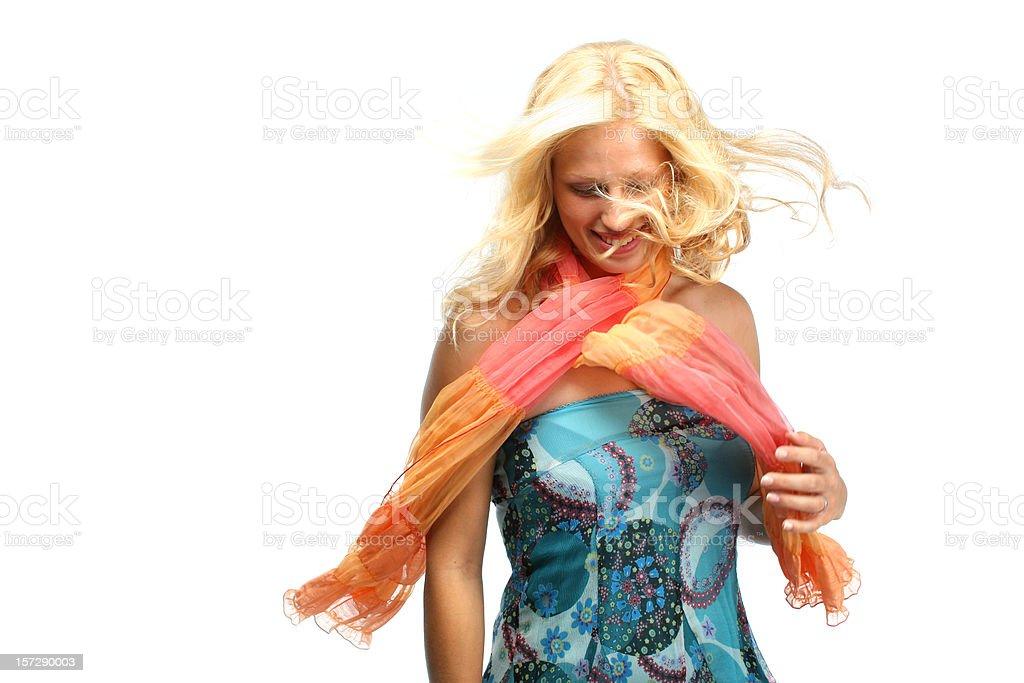 Fun in the wind royalty-free stock photo