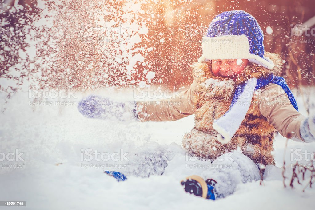 Fun in winter stock photo
