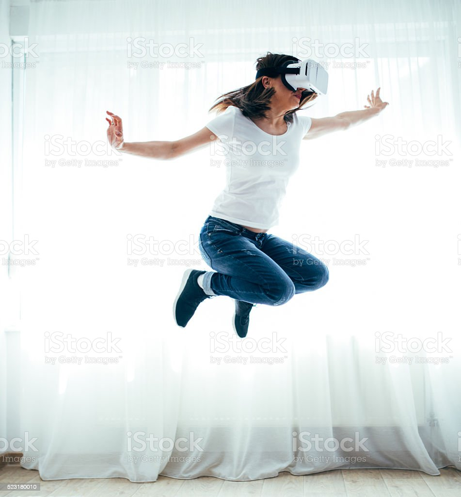 Fun in world of fantasy stock photo