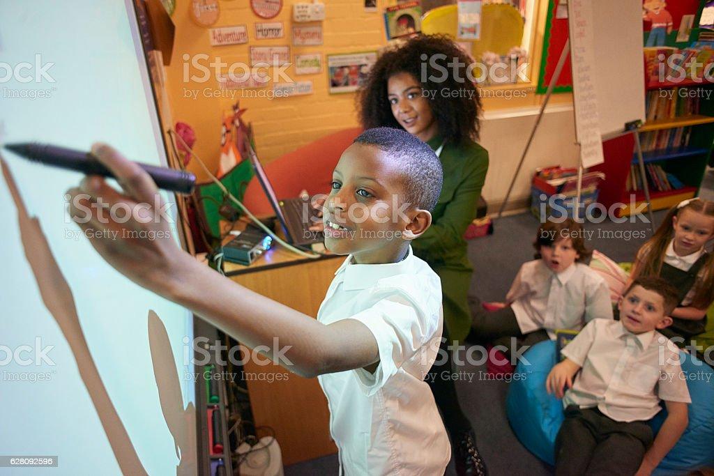 fun interactive learning stock photo