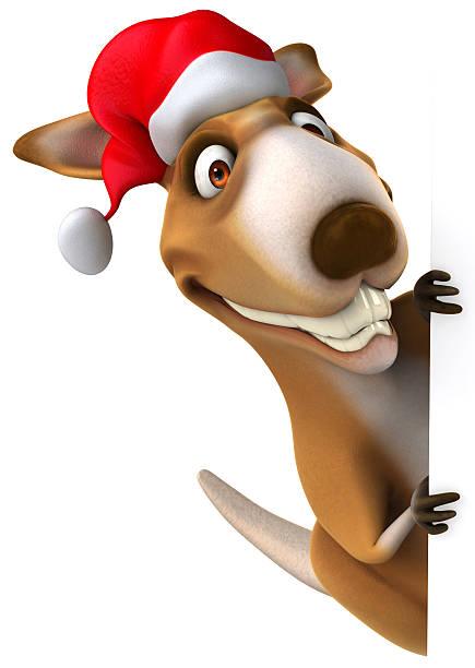 Christmas Kangaroo Cartoon.Best Christmas Kangaroo Stock Photos Pictures Royalty