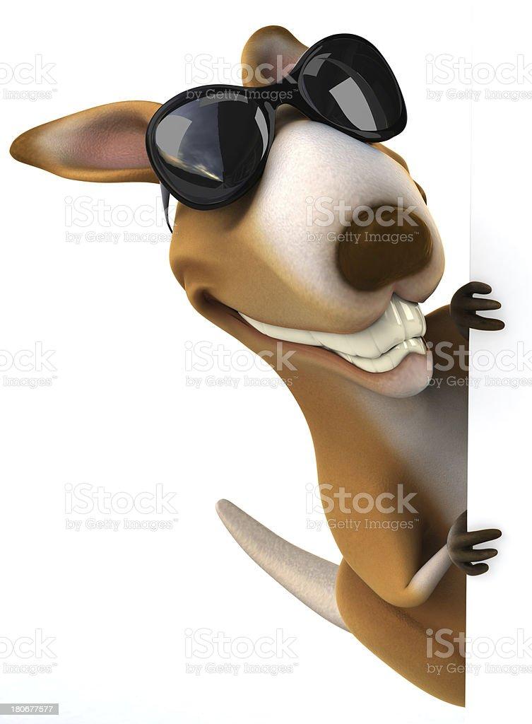 Fun kangaroo royalty-free stock photo
