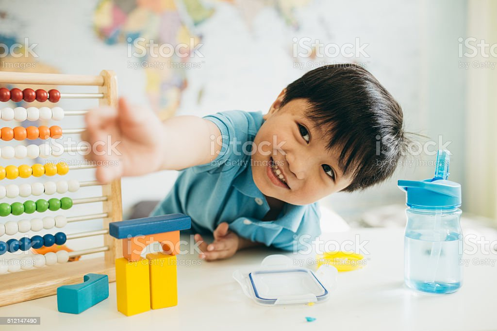Fun learning activities stock photo