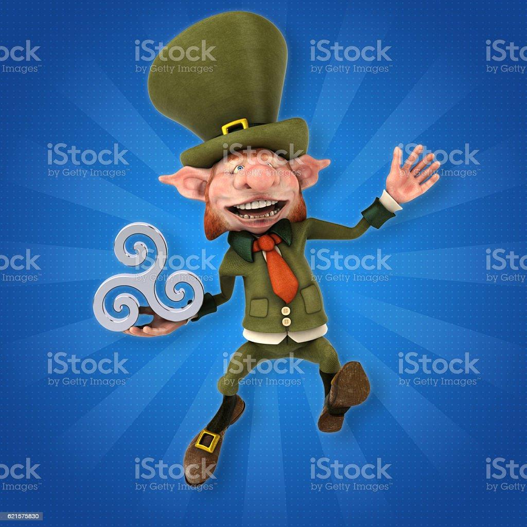 Fun leprechaun - 3D Illustration photo libre de droits