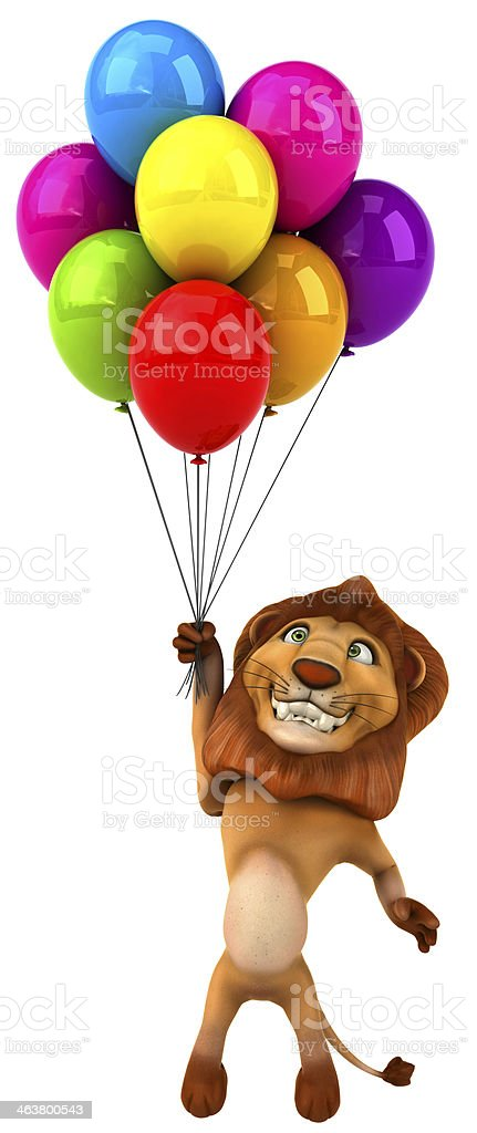 Fun lion stock photo