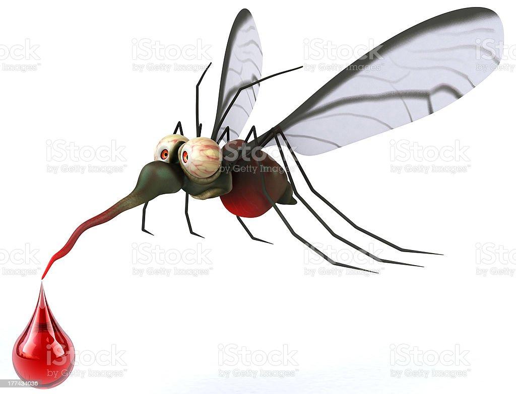 Fun mosquito royalty-free stock photo