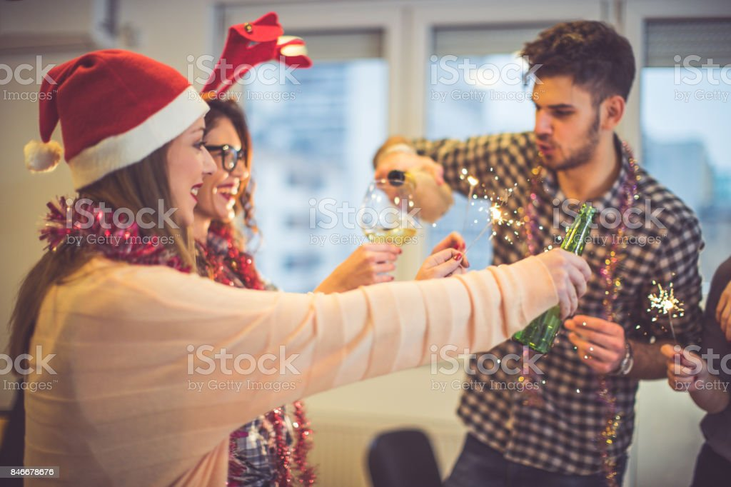 Fun new year's party stock photo