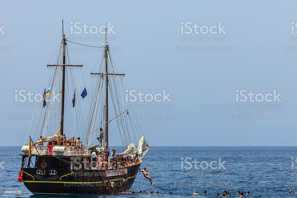Fun off Tenerife's coast royalty-free stock photo