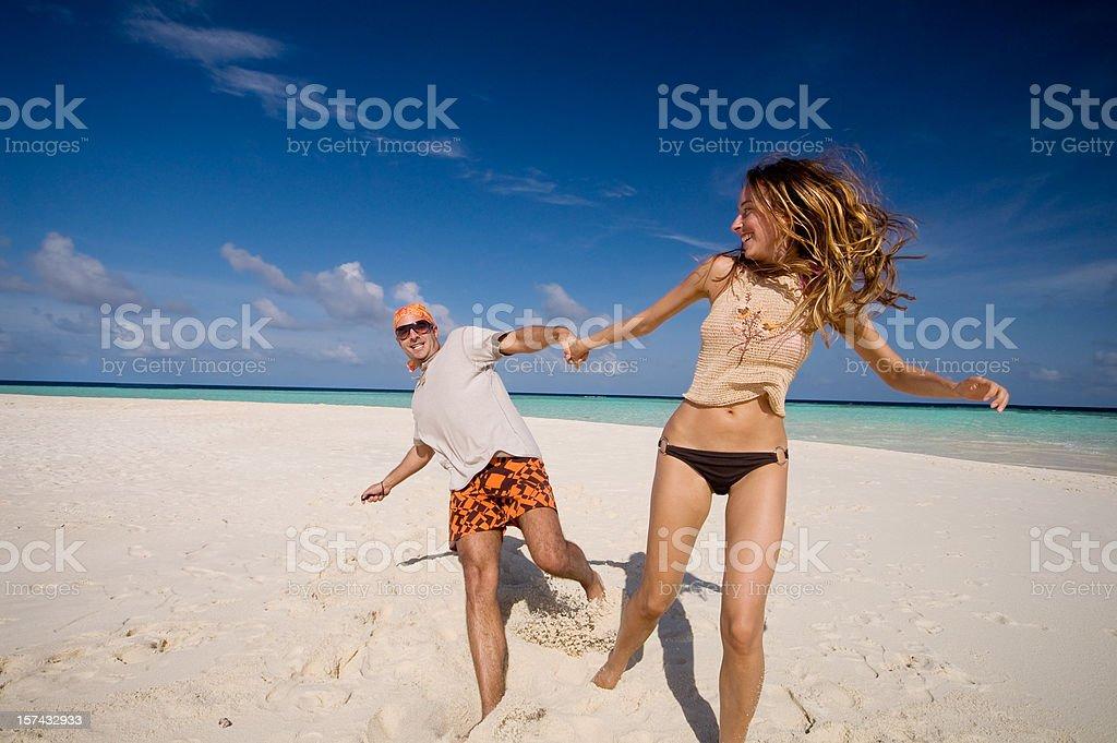 Fun on the Beach royalty-free stock photo
