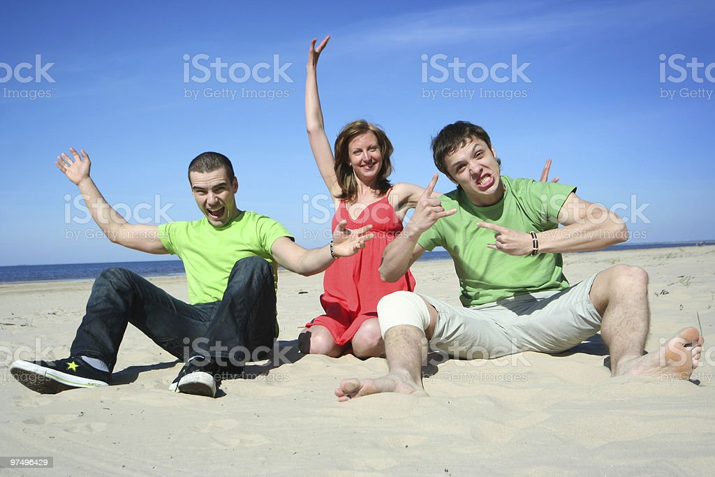 fun on the beach royalty-free stock photo
