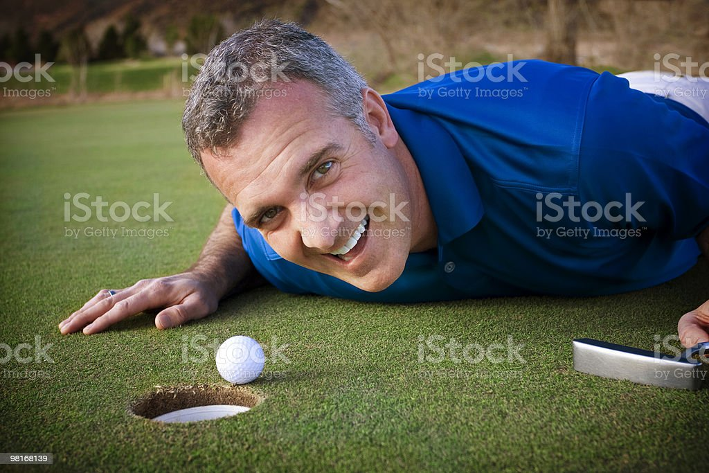 Fun on the Golf Course royalty-free stock photo