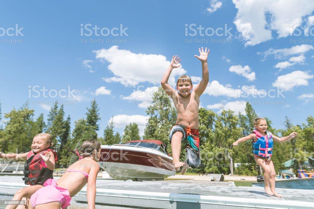 Fun on the Lake! stock photo