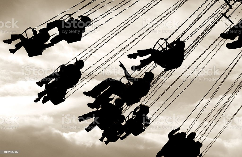 Fun on the swings royalty-free stock photo
