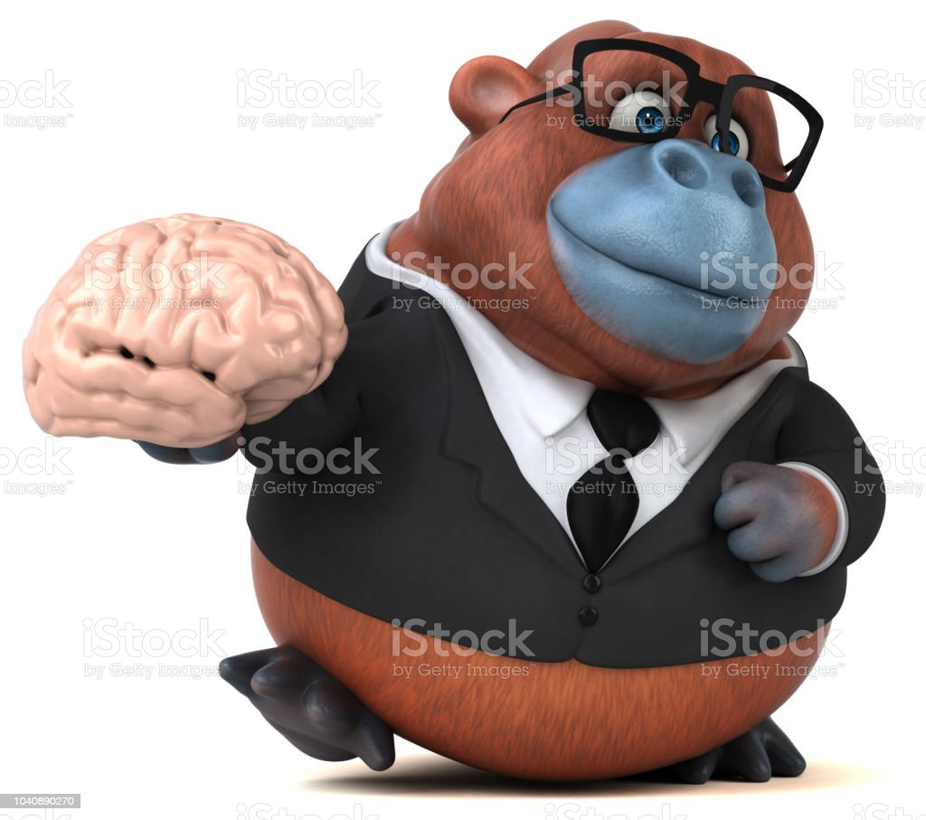 Fun Orang Outan - 3D Illustration stock photo