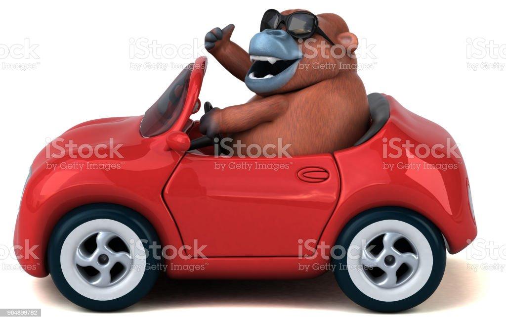 Fun orang outan - 3D Illustration royalty-free stock photo
