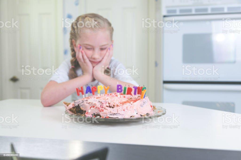 Surprising Fun Parenting Children Birthday Cake Fail Stock Photo Download Personalised Birthday Cards Veneteletsinfo