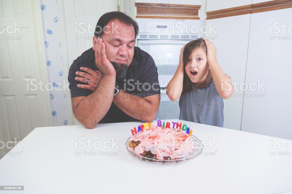 Cool Fun Parenting Children Birthday Cake Fail Stock Photo Download Personalised Birthday Cards Veneteletsinfo