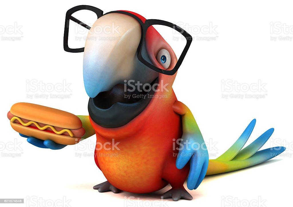 Fun perroquet photo libre de droits