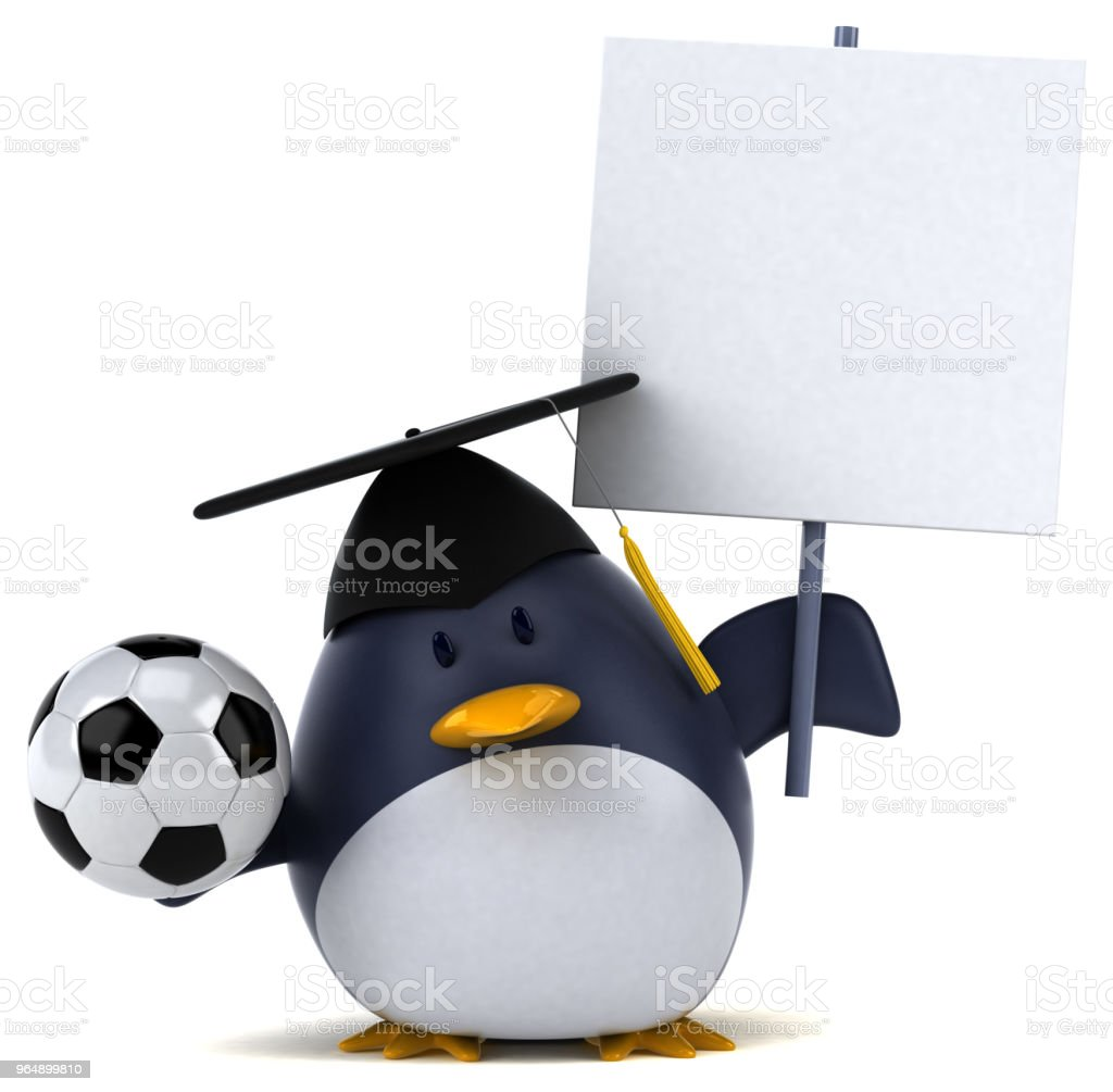 Fun penguin - 3D Illustration royalty-free stock photo