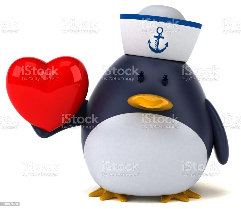 Fun penguin - 3D Illustration royalty-free stock photo