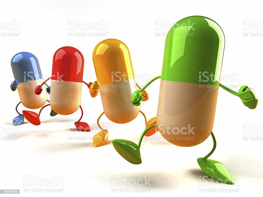 Fun pills royalty-free stock photo