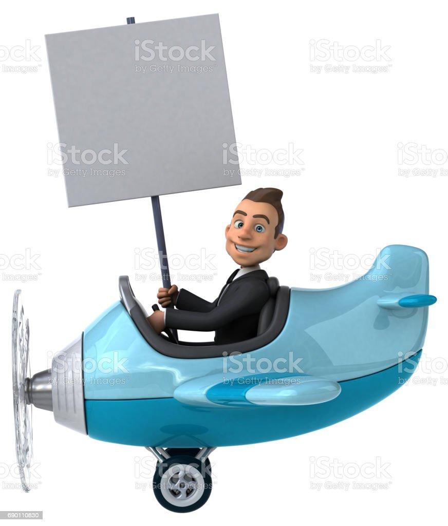 Fun plane stock photo
