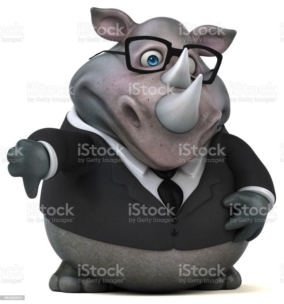 Fun rhinoceros - 3D Illustration - Royalty-free Africa Stock Photo