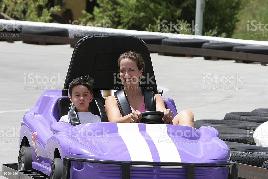 Fun Ride with Go-Cars royalty-free stock photo