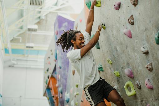 istock Fun Rock Climbing Session 878242876
