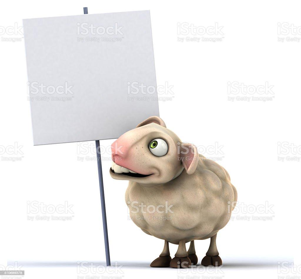 Fun sheep stock photo