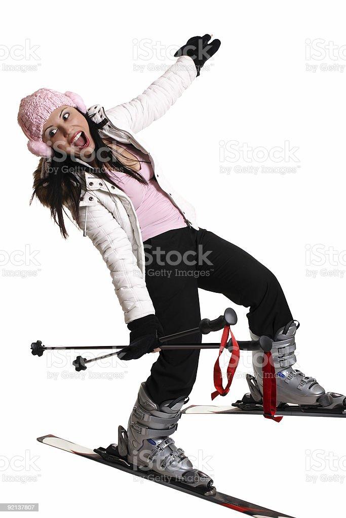 Fun ski trip stock photo
